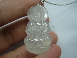 玻璃種 A貨 天然翡翠 觀音 附中國寶石證書