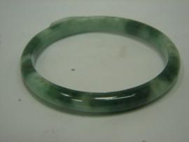 A貨 天然翡翠 玉手環 附中國寶石證書