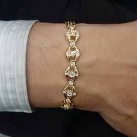 台中流當品拍賣 流當鑽石 1克拉多 G色 K金 鑽石手鏈 特價出清