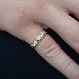 台中流當品拍賣 流當鑽石 造型 線戒 F色 約46分 K金 線戒 特價出清