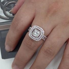 台中流當品拍賣 流當鑽石拍賣 超豪華 1.2克拉 H色 K金 女鑽戒 喜歡價可議