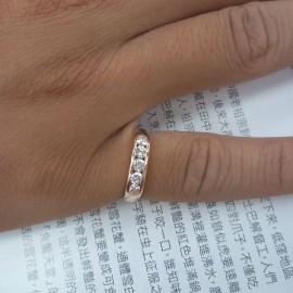 台中流當品拍賣 流當鑽石 線戒 F色 約50分 K金 線戒 特價出清