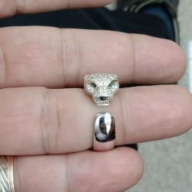 台中流當品拍賣 真品 CARTIER 卡地亞 豹頭 滿鑽 鑽戒 54號 盒單齊全 喜歡價可議
