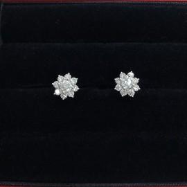 台中流當品拍賣 流當鑽石 豪華 35分 G色 K金 鑽石耳環 壹對 喜歡價可議