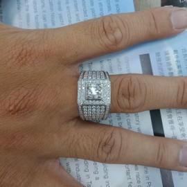 台中流當品拍賣 流當鑽石 GIA 1克拉 F色 K金 豪華 男鑽戒 喜歡價可議