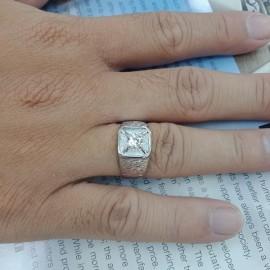 台中流當品拍賣 流當鑽石拍賣 38分 F色 K金 男鑽戒 特價出清 KS020
