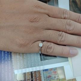台中流當品拍賣 流當鑽石 45分 H色 K金 鑽戒 特價出清